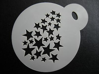 Laser cut small fading stars design cake,cookie,craft & face painting stencil