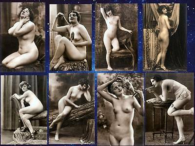 8 Vintage Victorian Risque Nude Erotic Reproduction Postcard Photos On 6x4x190g