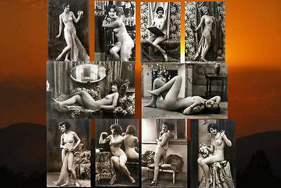 10 Vintage Victorian Risque Nude Erotic Reproduction Postcard Photos On 7x5x190g