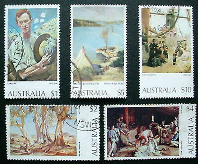 Australia: 1974 Australian Paintings: Set Of 5 Used Stamps Not Hinged: Lot 2