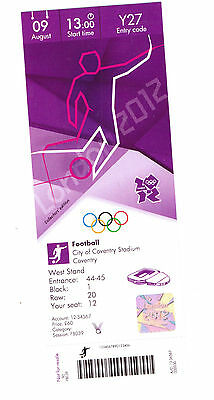 London 2012 Olympic Replica Ticket - Football 09 August Coventry