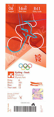 London 2012 Olympic Replica Ticket - Cycling Track 06 August  Collectors Edition