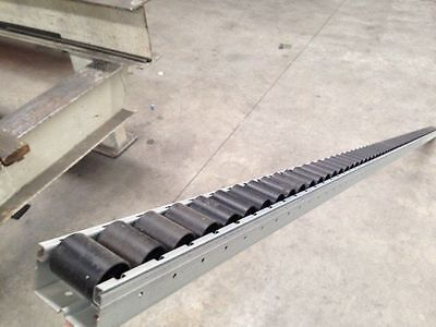 3 x Gravity conveyor rollers $38 each track 40mm high x 56mm wide x 2310