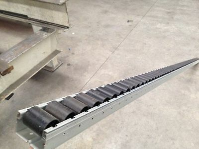 3 x Gravity conveyor rollers $40ea track 40mmH x 56mmw x 2310L