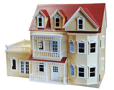 High Quality Wooden Doll House with Conservatory