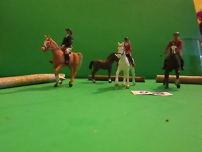 """Set of 7 Attractive Vintage 1973 Britain's Ltd. """"A Ride in the Park!"""" #078"""