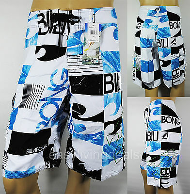Mens Swim Surf Boardshorts Surfing Pants Surfers Beach Shorts Size 38 B45-Blue