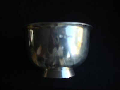 solid silver bowl Chester 1911