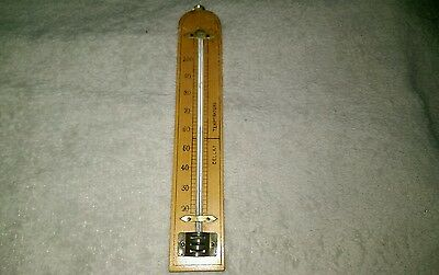 VINTAGE WOODEN  WALL HANGING CELLAR THERMOMETER 1950,s