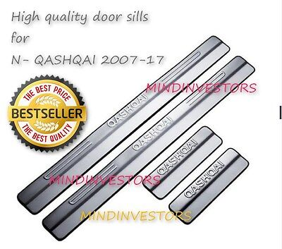 Door Stainless Steel Sill Protective Guard/Plates Nissan QASHQAI 2007 to 2015
