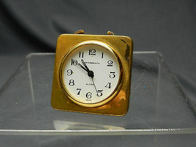 ANTIQUE Tiffany & Co Miniature 1880's Alarm Clock, Runs, Swiss 17 Jewell RARE NR
