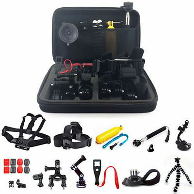 Head Chest Monopod Pole Mount Case Kit Bundle Accessories For GoPro Camera UK