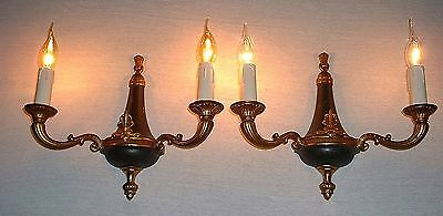 Vintage French pair bronze sconces Empire style high quality