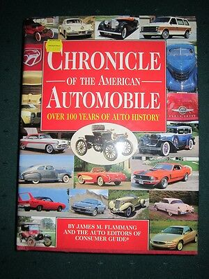 Chronicle of the American Auto~Over 100 Years Auto History~Hardcovered~VG