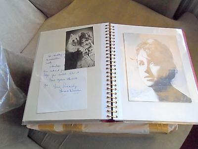 ALBUM OVER 60 PHOTOS MAINLY SIGNED STARS / THE 1950`S - 80`s SUPERB COLLECTION