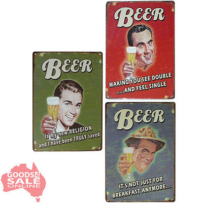 Choose Beer Alcohol Barware Tin Metal Wall Sign Decor for Bar Pub Garage 20x30cm