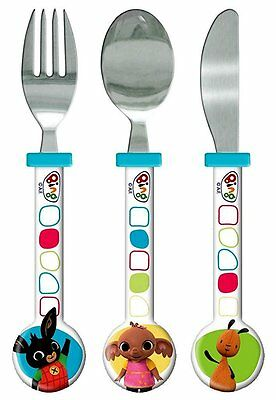 Spearmark CBeebies Bing Bunny Knife Fork Spoon Cutlery Set Gift Age 3 - 4