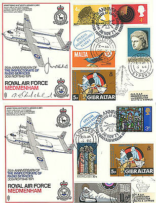 rare set of two RAF FDC CO 6 f+g