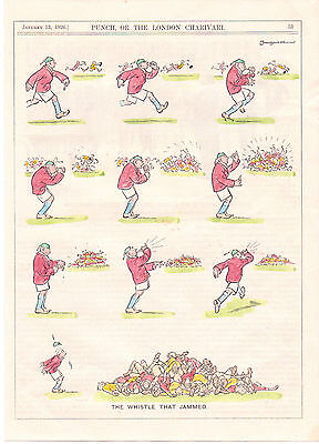 """Rugby. """" The Whistle That Jammed """" 1926. Rare."""