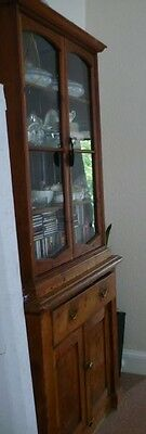 Antique Victorian Library Bookcase  With Drawer
