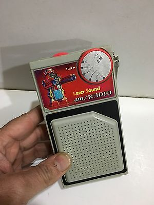 Vintage Novelty Lazer Sound Pocket Radio  Am(Mw)- Band From The 1960S