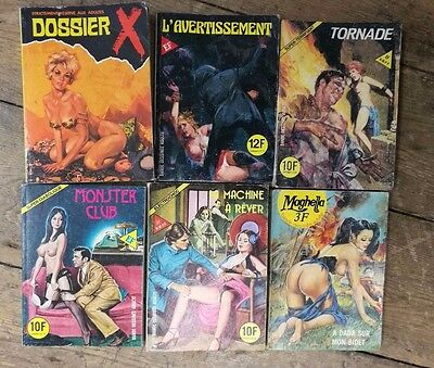 Collection of Vintage Erotic French Adult comics Graphic novels