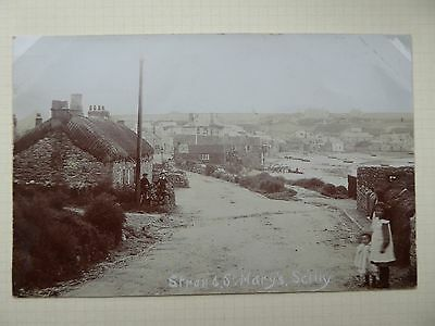 Real photo postcard of Strand, St Mary's, Scilly Isles