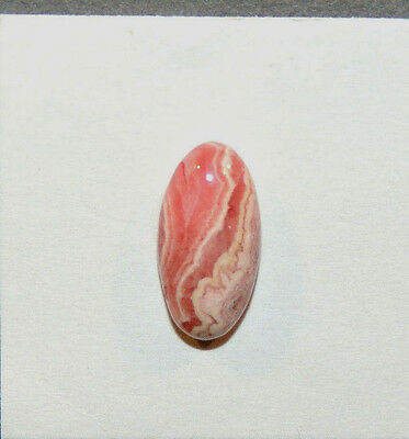 Pink Rhodochrosite Cabochon 19x10mm with 6mm dome (11510)