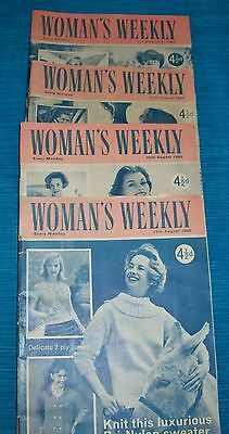 Job lot of Vintage 'Woman's Weekly' Magazines for August 1960,Collectable