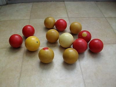 Antique Billiard Pool Cue Balls And Others..old Ones