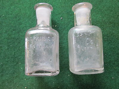 2 Old Larkin  Soap Co.3 Inch Clear Empty Bottles