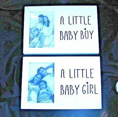 Stock Clearance Reduced  Photoframe White With Led Sign Baby Boy Or Girl