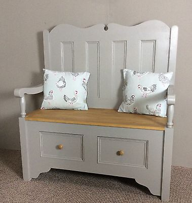 Country style settle,pew,storage bench
