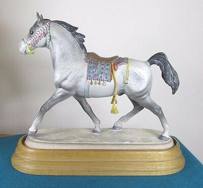 V. Rare Beswick Arab Stallion With Saddle - Perfect!