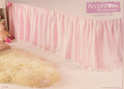 My Girls Bedroom Makeovers . Multi Layered Single Bed Valance - Pink Bedding
