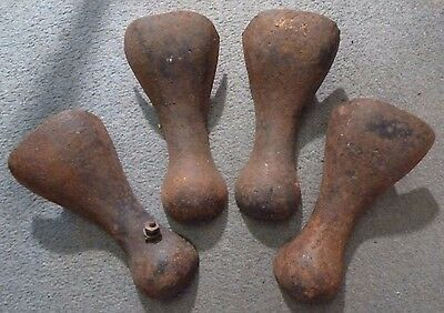 Set of 4 Antique Bath Cast Iron Feet - No.2