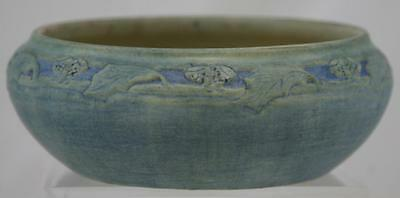 """NEWCOMB COLLEGE 3"""" x 8"""" BULB BOWL 1915 BY R. BEEN ACORNS/OAK LEAVES FACTORY MINT"""