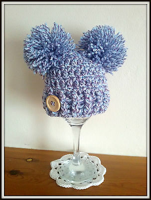 ** Crochet BABY POM POM HAT  ,GIFT ,PHOTO PROP  baby