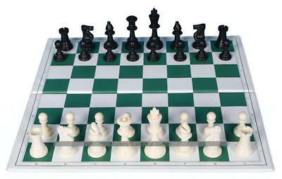 Tournament Size Plastic Chess Set (with folding board)