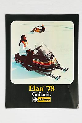 Original 1978 Bombardier Ski-Doo Elan 250 Deluxe Advertising Brochure Leaflet