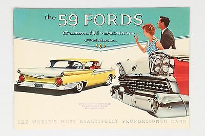 A+ Original 1959 Ford Custom 300 Fairlane 500 Victoria Car Advertising Brochure