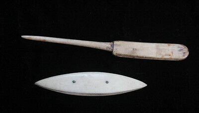Antique Lace Making Shuttle And Tool (4355)