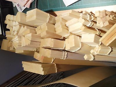 "A Selection Of Balsa Wood And Spruce Wood All 36"" Long See Listing For Sizes"