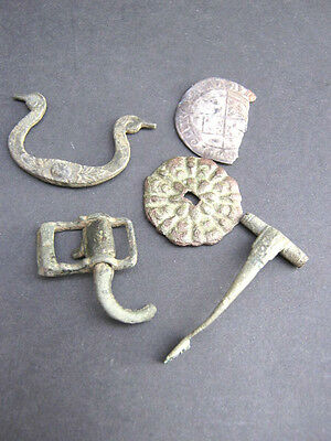 A Collection On Antiquities, Large Medieval Silver Coin, Roman Items & Later