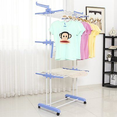 3 Tiers Indoor Outdoor Clothes Airer Laundry Dryer Extra Large Foldable Rack