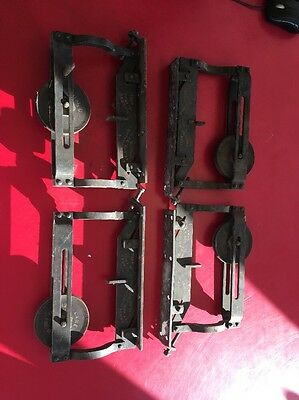 4 Antique Lane Sliding Pocket Barn Parlor Door Rollers Trolley Hangers 1890 Pat.