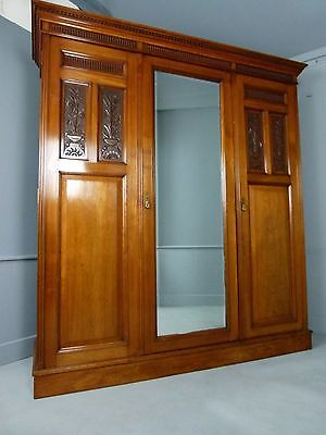 Victorian Walnut Compactum Wardrobe By James Shoolbred & Co