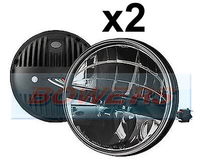 """Pair Of Land Rover Defender Truck-Lite 27291C 7"""" Round Led Headlamps Headlights"""