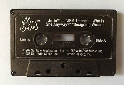 Jem and the Holograms JETTA cassette tape vintage Hasbro *tested*
