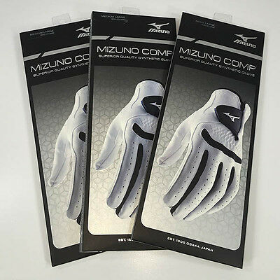 Mizuno Comp Golf Gloves Pack of 3 2016 Left Hand All Weather